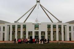 canberra wejścia domu magistrali parlament zdjęcia stock
