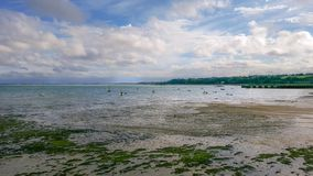 Cancale beach at low tide royalty free stock images