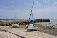 Cancale in Brittany, France, by the Atlantic Ocean Royalty Free Stock Photography