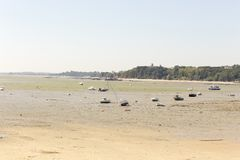 Low tide in Cancale royalty free stock photo