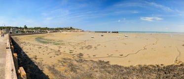 Cancale panorama przy niskim przypływem Obraz Royalty Free
