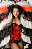 Cancan dancer Royalty Free Stock Image