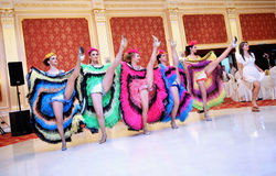 Cancan dancers Royalty Free Stock Photos