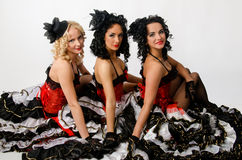 Cancan dancers Royalty Free Stock Photo