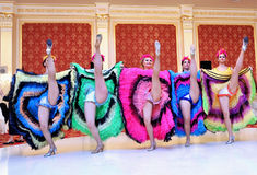 Cancan sexy dancers Stock Photography