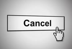 cancel кнопки Стоковое Фото
