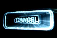 Cancel. Abstract cancel button on black background royalty free stock photography