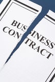 Cancel Business Contract. Torn paper stock photo
