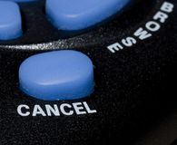 Cancel Button. Close-up of a cancel button stock image