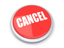 Cancel Button. A cancel button. 3D rendered illustration. Isolated on white Royalty Free Stock Photos