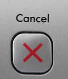 Cancel button. With an x royalty free stock photo