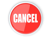 Cancel Button. A cancel button. 3D rendered illustration Royalty Free Stock Photos