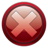 Cancel button. Red round stop/cancel button for software interfaces and such Stock Photos