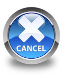Cancel glossy blue round button Royalty Free Stock Photo
