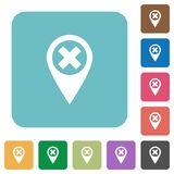 Cancel GPS map location rounded square flat icons