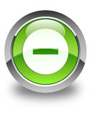 Cancel icon glossy green round button Stock Photography