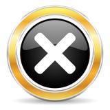 cancel ikona Fotografia Stock