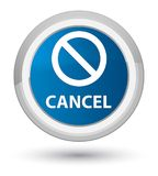 Cancel (prohibition sign icon) prime blue round button Stock Images
