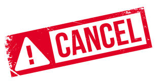 Cancel rubber stamp Stock Images