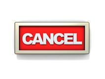 Cancel sign or button Royalty Free Stock Photos