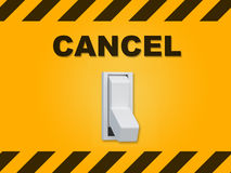 Cancel - situational concept Royalty Free Stock Image