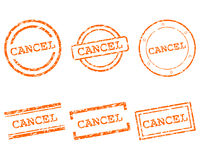 Cancel stamps. Detailed and accurate illustration of mancel stamps vector illustration