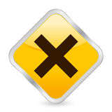 Cancel yellow square icon Stock Image
