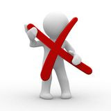 Cancelación Imagen de archivo libre de regalías