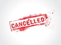 Cancelado ilustração do vetor