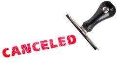 Cancele el sello cancelado fotografía de archivo