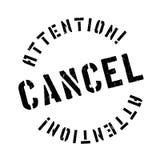 Cancele el sello de goma Fotografía de archivo