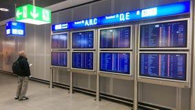 Cancele a greve a mais grande dos voos Francoforte 2015 Fotografia de Stock Royalty Free