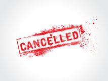 Cancelled. Grunge icon,rubber stamp Stock Image