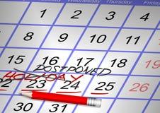 Canceled Holiday Stock Image