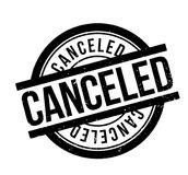 Canceled rubber stamp. Grunge design with dust scratches. Effects can be easily removed for a clean, crisp look. Color is easily changed Stock Images