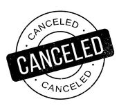 Canceled rubber stamp Royalty Free Stock Photo