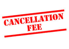 CANCELLATION FEE Royalty Free Stock Images