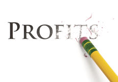 Cancellazione dei profitti Fotografia Stock Libera da Diritti