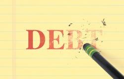 Cancellazione del debito dal registro Fotografia Stock Libera da Diritti