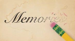 Cancellazione delle memorie Fotografia Stock