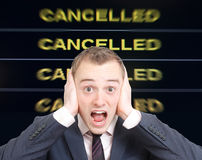 Cancelled Royalty Free Stock Photography