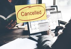 Cancelled Appointment Planner Ignore Concept Royalty Free Stock Photo