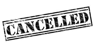 Cancelled black stamp Royalty Free Stock Photography