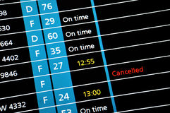 Cancelled flight Royalty Free Stock Image