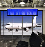 Cancelled flight at airport Royalty Free Stock Photos