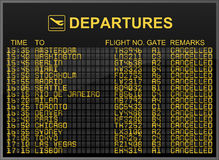 Cancelled Flights Stock Images