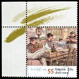 Cancelled postage stamp printed by Germany. That shows Painting by Heinrich Zille, circa 2008 royalty free stock photo