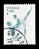 Sport on postage stamps stock photo