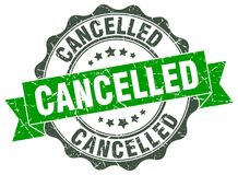 Cancelled seal Royalty Free Stock Image