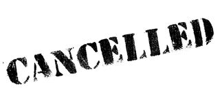 Cancelled rubber stamp Royalty Free Stock Image
